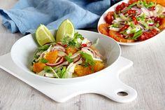 V kuchyni vždy otevřeno ...: Fenyklový salát s pomerančem a pikantní zálivkou Caprese Salad, Tacos, Ethnic Recipes, Food, Essen, Meals, Yemek, Insalata Caprese, Eten
