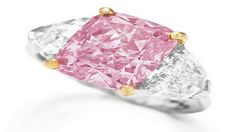 The Pink Graff Ring Going for $11.8 million this diamond came from the mines of South Africa. It comes with a 5-carat pink diamond and has been mounted with Graff diamonds to raise the price even more.