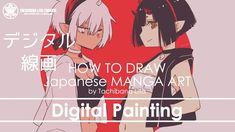 ✔ Digital Painting - Step : Draft - Inking | How to draw Manga Art 2018....