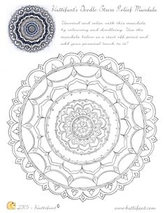 100 free coloring pages for adults and children Stress Relief Doodles Mandala