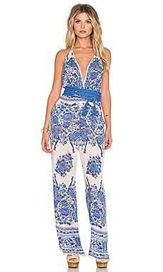 Spell & The Gypsy Collective Hotel Paradiso Jumpsuit in Bluebird
