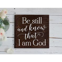 Be Still and Know That I Am God Bible Verse Sign Bible Verse Plaque... ($30) ❤ liked on Polyvore featuring home, home decor, wall art, grey, home & living, home décor, wall décor, wall hangings, handmade signs and handmade home decor