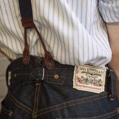 Under my skin Raw Denim, Denim Jeans, Denim Shirts, High Street Fashion, Rugged Style, Look Vintage, Vintage Denim, Crea Cuir, Jacket Outfit