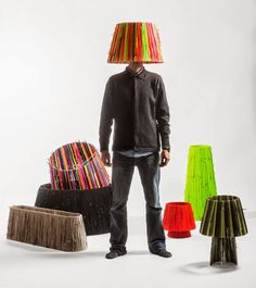 Your Next Lampshades May Be Made of Shoelaces via Brit + Co.