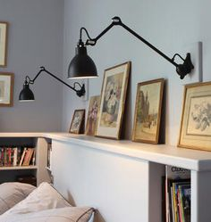 Adjustable wall lamp with swing arm 304L40 Wall/ceiling lamp ...