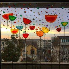 """Andreea Opris on Instagram: """"#windowpainting #stainedglass #stainedglasswindows #stainedglassart #windowcolors"""" Stained Glass Art, Stained Glass Windows, Painting, Color, Instagram, Stained Glass Panels, Painting Art, Colour, Stained Glass"""