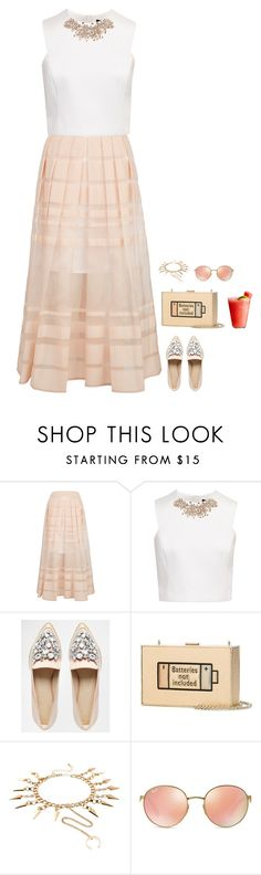 """""""#3345"""" by azaliyan ❤ liked on Polyvore featuring TIBI, Ted Baker, ASOS, Anya Hindmarch, Emi Jewellery, Ray-Ban and Disney"""
