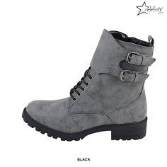 Pat Ankle Boot with Buckle Detail - Assorted Colors
