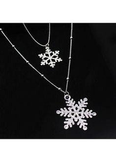 Cheap snowflake necklace, Buy Quality flower necklace directly from China necklaces for women Suppliers: BYSPT Women Christmas Gift Beautiful Silver Color Crystal Snowflake Necklaces&Pendants Snow Flower Necklace For Women Jewelry Long Pendant Necklace, Pendant Jewelry, Beaded Jewelry, Bead Jewellery, Rhinestone Necklace, Silver Earrings, Silver Jewellery Online, White Gold Jewelry, Black Rose Flower