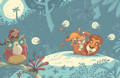 Line. Simplification of the background Lulu - Children's Book on Behance