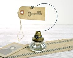 vintage door knob photo holder