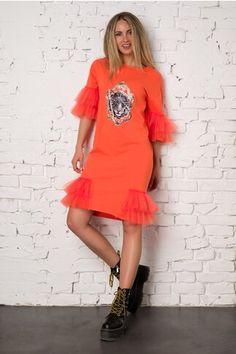 Pagina 2 - Rochii de Zi Casual - Preturi Avantajoase | DyFashion Shirt Dress, T Shirt, Casual, Orange, Floral, Dresses, Fashion, Supreme T Shirt, Vestidos