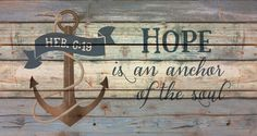 """Hand-assembled with a weathered, nautical look, this Pallet Wall Sign will bring joyful reminder of the ocean, beach or any summertime vacation - measures 20"""" x 10.5"""" - rustic, weathered designs - can"""