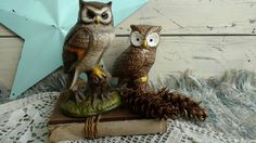 Check out this item in my Etsy shop https://www.etsy.com/listing/455416496/retro-angry-owl-statue-set-mod-ceramic