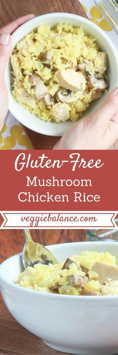 Healthy, All-natural Mushroom Chicken Rice. Oh my word it is comfort food at its finest.