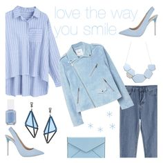 """love the way you smile"" by faesadanparkaia ❤ liked on Polyvore featuring ALDO, MANGO, Rebecca Minkoff, Issey Miyake and Essie"