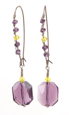 Jewelry Making Idea: Violet Splendor Earrings