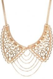 Grand Entrance Chain Link Filligree Collar Necklace in Gold #accessories #boutique #cuteAccessories