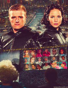 The World Will Be Watching. Hunger Games with Katniss Everdeen & Peeta Mellark