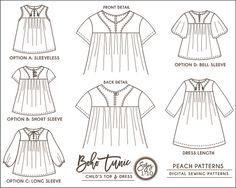 BOHO BUNDLE: TWO Sewing Patterns Toddlers Children Girls Boys