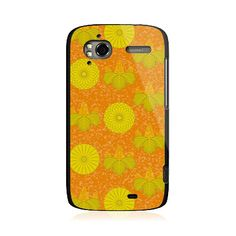 Yellow Round Flowers HTC Sensation/XE Case