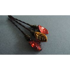 Fall Leaves Hair pins Red Gold Autumn Leaf Bobby Pins Woodland Wedding... (32 CAD) ❤ liked on Polyvore featuring accessories, hair accessories, rose gold hair accessories and leaf hair accessories