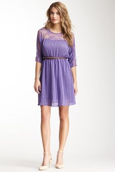 love the shade of purple on this dress - flying tomato