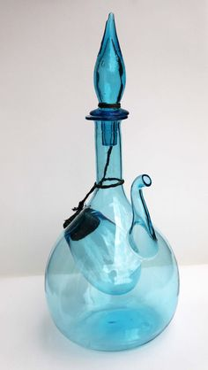 Blown Glass Wine Decanter with Ice Cooler by cherryREVOLVER