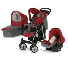 Hauck Pack Trio Carrinho De Bebe Shopper Red Cadeira Auto Grupo 0 Alcofa Maleavel