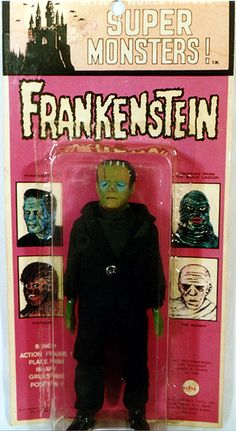 AHI Frankenstein When I am rich, I shall have all of the Frankensteins! Frankenstein's Monster, Monster Mash, Record Display, Creepy Toys, Fantasy Comics, Classic Monsters, Vintage Horror, Horror Movies, Comedy Movies