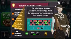 John Waine Strategy on Live Roulette - free - ios & android - live multiplayer - daily & mega bonus - send & receive gifts www.abzorbagames.com #roulette #games #free