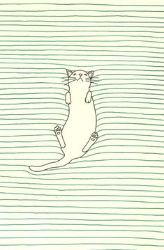 All lined paper should be like this. (Minimalist Cat Art by Pavel Pichugin)