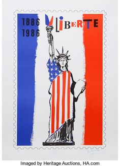 Prints:Contemporary, Roger Bezombes (French, 1913-1994). Liberté, 1986. Serigraphin colors. 25-1/2 x 17 inches (64.8 x 43.2 cm). Ed. 27/225...