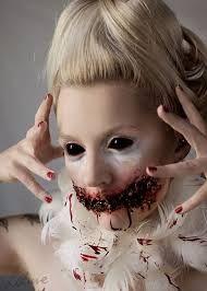 Female, white, bloody clown