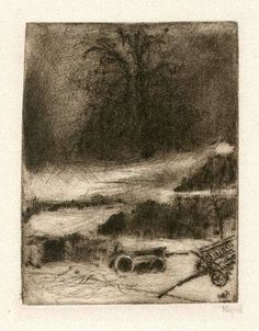 Bohuslav Reynek Lípa se stodolou Monochrome Painting, Light And Shadow, Czech Republic, Painters, Painting & Drawing, Graphic Art, Art Gallery, Artists, Abstract