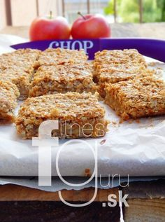 Fantastický jablkový koláč Healthy Cookies, Healthy Desserts, Healthy Recipes, Dairy Free Recipes, Sweet Recipes, Banana Bread, Sweet Tooth, Clean Eating, Food And Drink