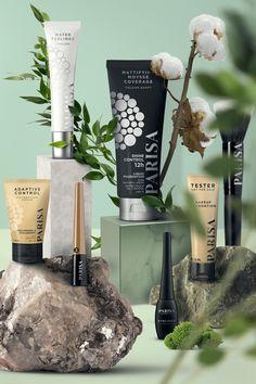 PARISA cosmetics Cosmetic Display, Cosmetic Design, Creative Advertising, Advertising Design, Cosmetics & Perfume, Makeup Cosmetics, Photo Makeup, Cosmetic Packaging, Natural Cosmetics