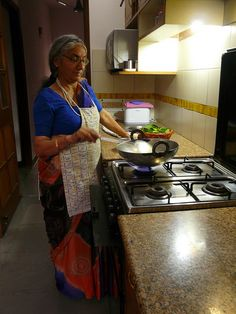 in the kitchen with mom! by madteaparty, via Flickr - Indian women skill in the Kitchen