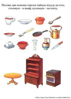 Begeleide of zelfstandige activiteiten - Wat hoort op tafel, in de kast en bij het fornuis?