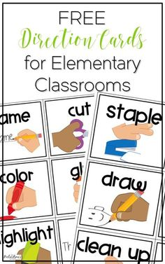 4 Classroom Time Savers {with FREE Direction Cards} Are you tired of repeating yourself over and over? Grab these FREE direction cards, display them on your board as visual reminders, and you are set! Classroom Routines, Classroom Procedures, Classroom Behavior, Classroom Ideas, Preschool Classroom Labels, Classroom Morning Routine, Classroom Daily Schedule, Behavior Log, Classroom Whiteboard