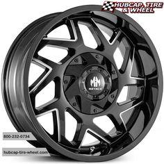 Mayhem Hatchet 8106 Black Milled Spokes Truck Wheels