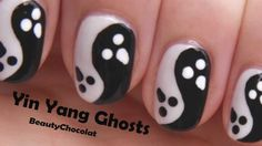ghost nail art - Google Search
