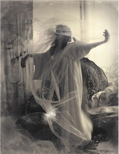 ☫ A Veiled Tale ☫  wedding, artistic and couture veil inspiration - Polke Vision by Curtis Eberhardt.