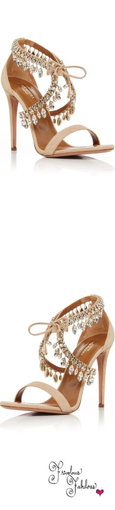 Frivolous Fabulous - Aquazzura Jewel Strap Sandals Resort 2016