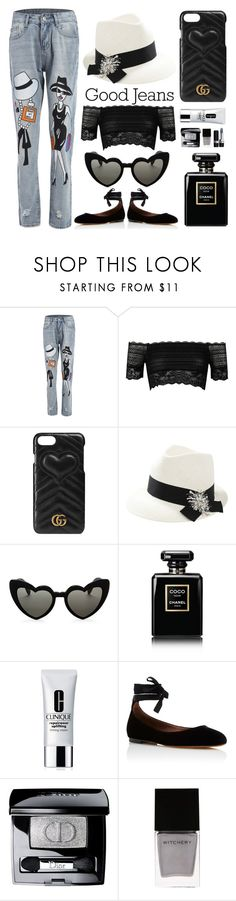 """""""Smart & Chic"""" by signorinapersonalshopper ❤ liked on Polyvore featuring River Island, Gucci, Brunello Cucinelli, Yves Saint Laurent, Chanel, Clinique, Tabitha Simmons, Christian Dior, Witchery and Summer"""