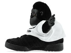 Yes, this is a shoe -- Adidas Originals-Gorilla X Jeremy Scott