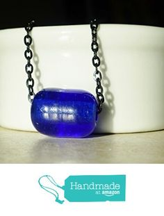 Minimalist Blue Bead on a Black Chain Necklace http://www.amazon.com/dp/B01810GJNW/ref=hnd_sw_r_pi_dp_Hnmswb00R0NRM #handmadeatamazon