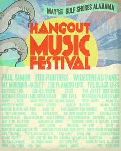 Hangout Music Festival Poster 2011