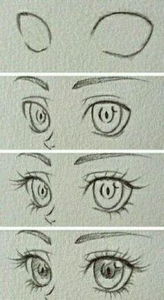 Manga Drawing Tips Design to draw - Draw Pattern - Eyes~ Eye Drawing Tutorials, Sketches Tutorial, Drawing Techniques, Drawing Tips, Art Tutorials, Eye Tutorial, Drawing Drawing, Drawing Faces, Sketching Tips