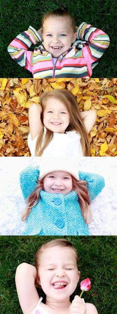 Snap a pic of your child in every season and create a collage to capture the year.